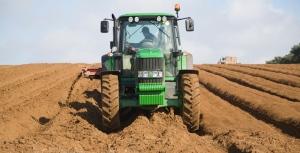 De-stoning soil for potato planting, Shottisham, Suffolk, England