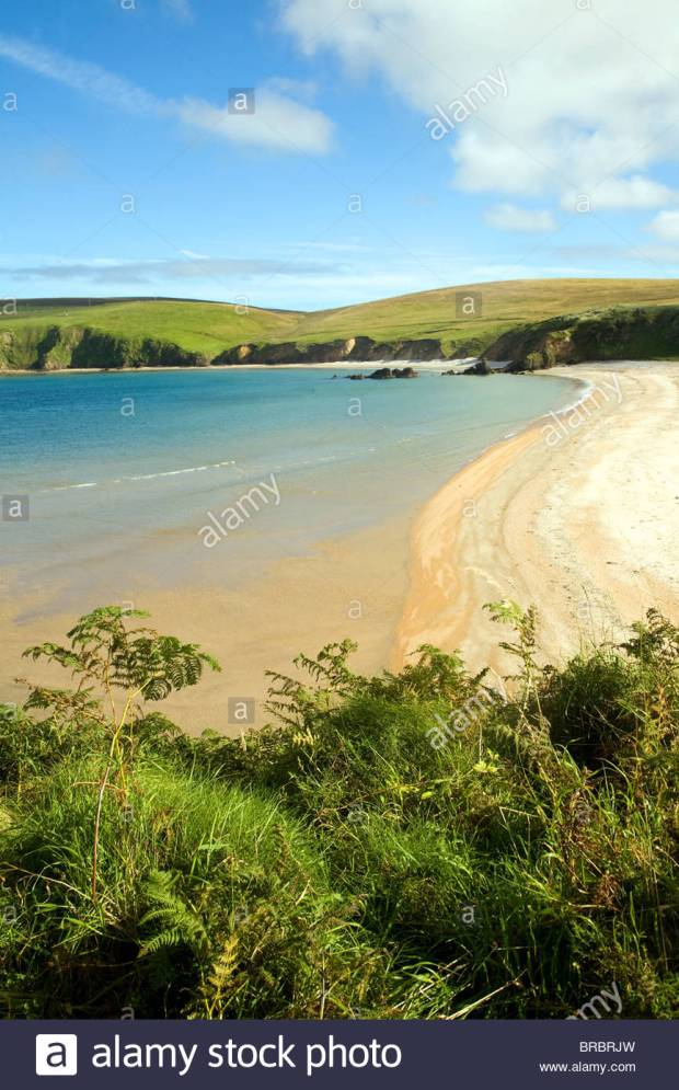 Sandy beach Burrafirth, Unst, Shetland Islands, Scotland